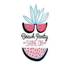 summer background with hand drawn slices of vector image