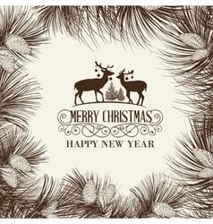 The Christmas frame vector image