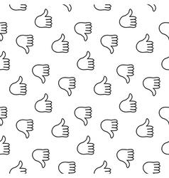 Thumb up seamless pattern vector