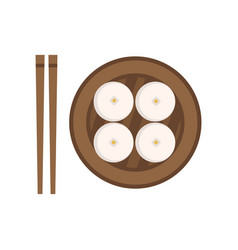 Traditional chinese food steamed buns national vector