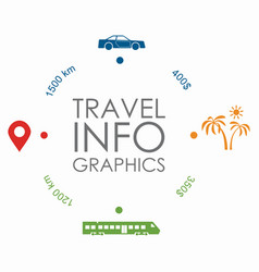 travel infographic design template with place vector image