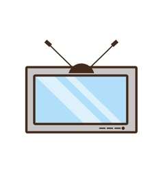 Tv electronic house appliance vintage vector