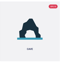 Two color cave icon from stone age concept vector