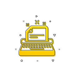 Typewriter icon documentation sign vector