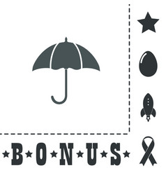 umbrella flat icon vector image
