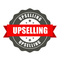 upselling badge - round stamp for sale workshop vector image