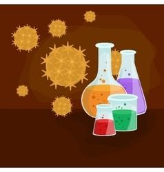 Viruses infected organism viral disease epidemic vector image