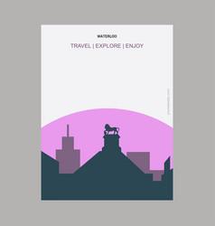 waterloo canada vintage style landmark poster vector image