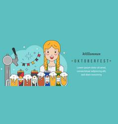 Web banner template for oktoberfest celebration vector