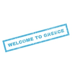 Welcome To Greece Rubber Stamp vector