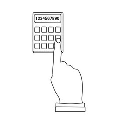 Work with the calculator e-commerce single icon vector