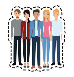 young adults people icon image vector image
