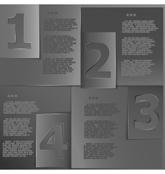 Black paper templates vector image vector image