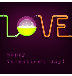 chemistry tubes valentine1 vector image vector image