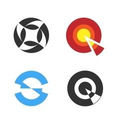 Circular Logo Set Negative Space Style Logotype vector image