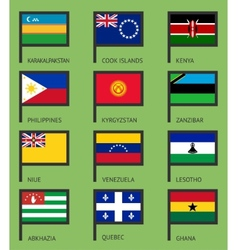 Flags flat set-16 vector image vector image