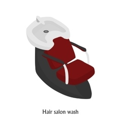 sink for washing the hair in a beauty salon vector image