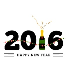 Congratulations to the happy new 2016 year with a vector image vector image