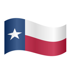 flag of texas waving on white background vector image vector image