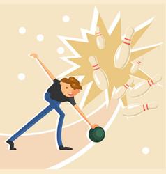 man throwing a ball vector image