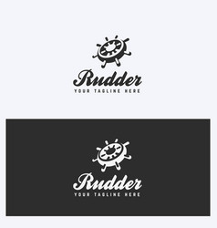 rudder helm logo design template vector image