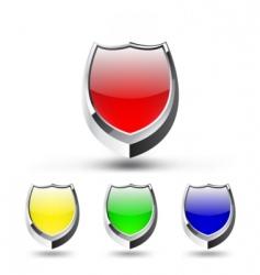 shield emblem set vector image vector image