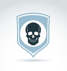 a human skull on a shield Dead head abst vector image