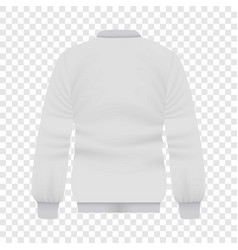 back of white baseball jacket mockup vector image vector image