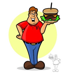Burger Guy vector image vector image