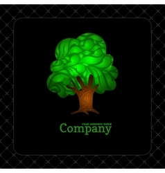Company business icon with laced green tree vector image vector image