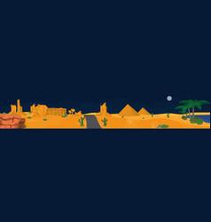 desert panoramic view vector image