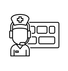 healthcare control tower or control center for vector image vector image