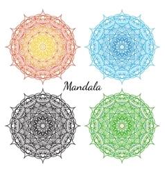 Mandala set East round ornament elements vector image vector image