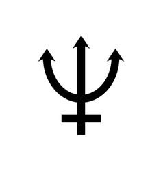 neptune symbol icon vector image