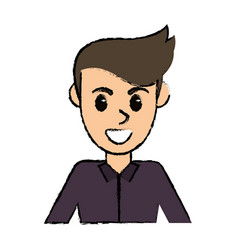 portrait man avatar comic image vector image vector image