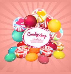 realistic sweet products poster vector image vector image