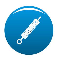 shish kebab icon blue vector image