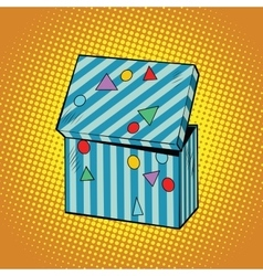 Striped holiday box for gifts vector image vector image
