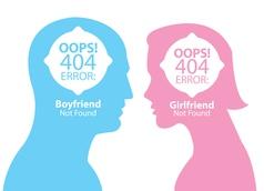 Boyfriend and girlfriend not found vector