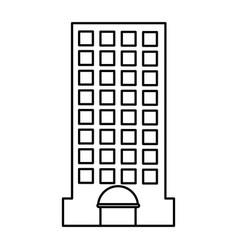 city building edifice vector image