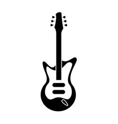 electric guitar musical instrument pictogram vector image vector image