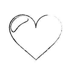 love heart romantic sketch vector image