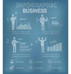 Sketch business infographics vector
