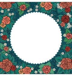 varicolored floral round ornamental frame vector image
