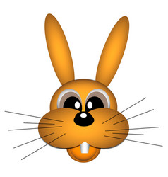 a cheerful red-haired hare with mustache on white vector image