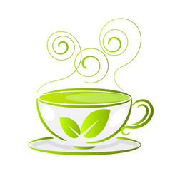 a cup of tea isolated on white background vector image