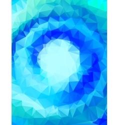 abstract polygonal blue background or frame vector image