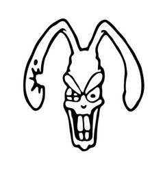 Angry rabbit vector