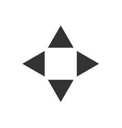 arrow up down back and next flat icon vector image