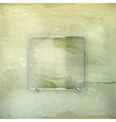 Banner glass old-style vector